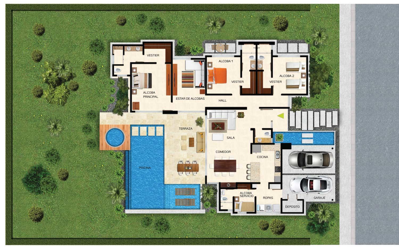 Ananda mevic s a for Planos casas modernas 1 planta